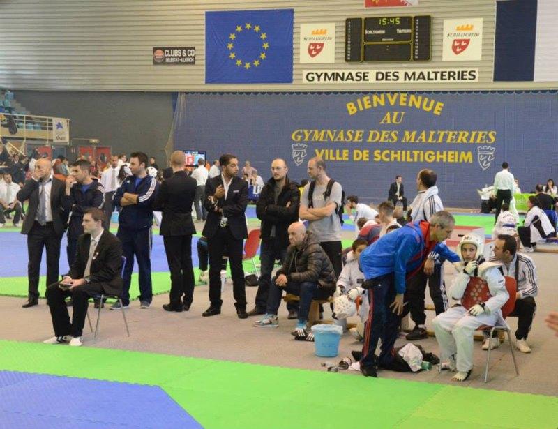 Open International d'Alsace 2014 in Schiltigheim - Sebil Kaya mit Coach Alfred Castano