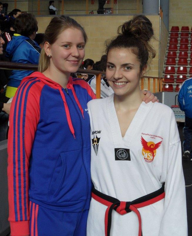 Anna-Lena Frömming und Vanessa Killisperger bei den Open de Andalucía 2013
