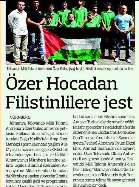 Palästinensische Gäste aus Ostjerusalem bei TKD Özer - Presse Post