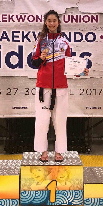 Presidents Cup 2017 in Athen - Blanca Palmer mit ihrer Medaille