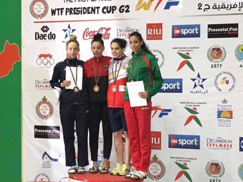 Presidents Cup Africa 2017 in Agadir - Rabia Gülec bei der Siegerehrung