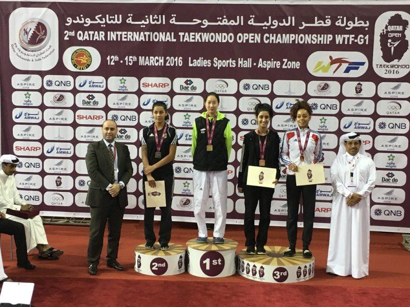 Qatar Open 2016 in Doha - Rabia Gülec bei der Siegerehrung