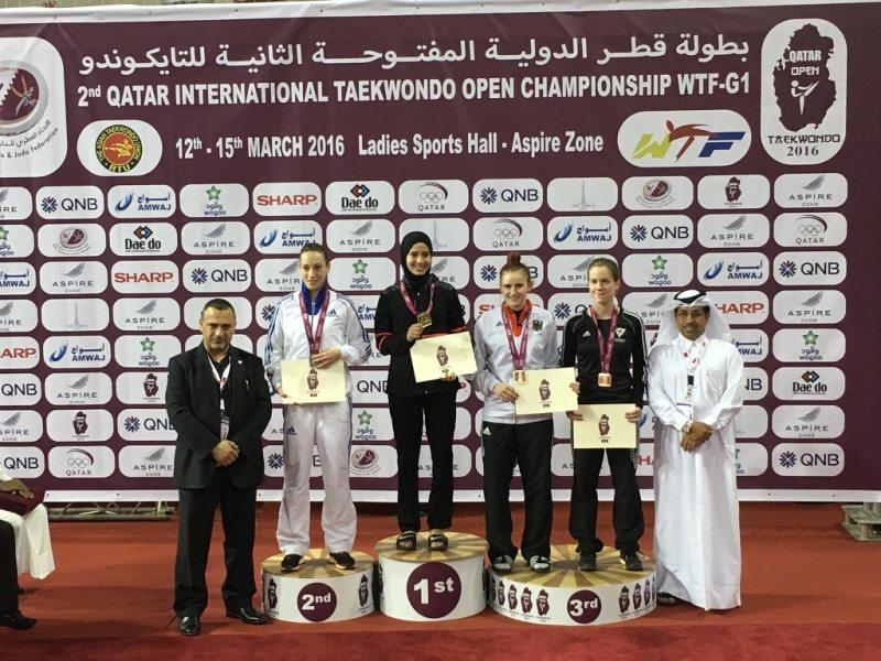 Qatar Open 2016 in Doha - Roxana Nothaft bei der Siegerehrung