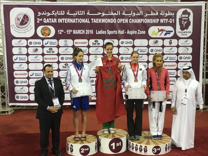 Qatar Open 2016 in Doha - Anna-Lena Frömming bei der Siegerehrung