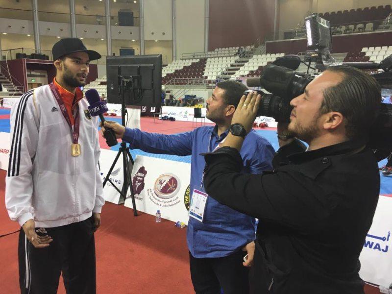 Qatar Open 2016 in Doha - Tahir Gülec im Fernseh-Interview