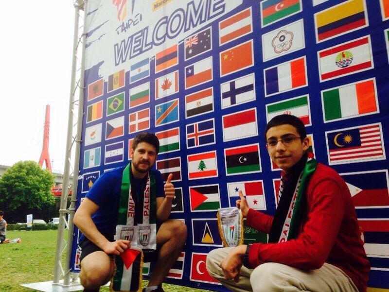 Qualifikationsturnier für die Olympischen Jugend-Spiele 2014 in Taipeh - Osayd Saqr mit Coach Orcun Öztürk