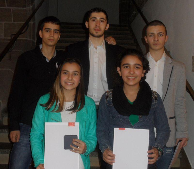 Sportlerehrung der Stadt Nürnberg 2014 - Abullatif Sezgin, Sebil Kaya, Erol Yorulmaz, Selina Öztürk und Hasan Koca