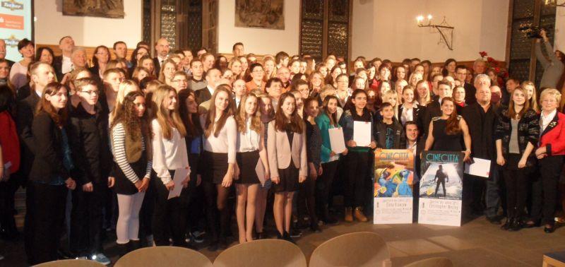 Sportlerehrung der Stadt Nürnberg 2014 - Gruppenbild mit allen Geehrten
