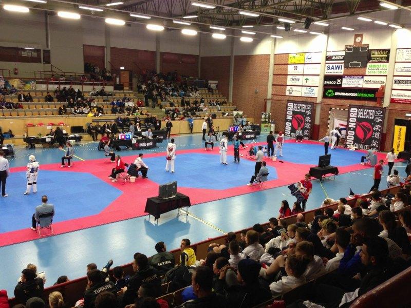 Trelleborg Open 2014 in Trelleborg - Halleninnenraum