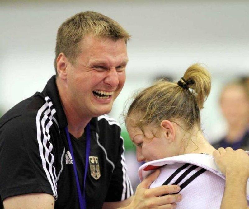 Vereinswechsel - Willkommen bei TKD Özer, Anna-Lena Frömming! - Anna-Lena Frömming mit Holger Wunderlich als Bundestrainer