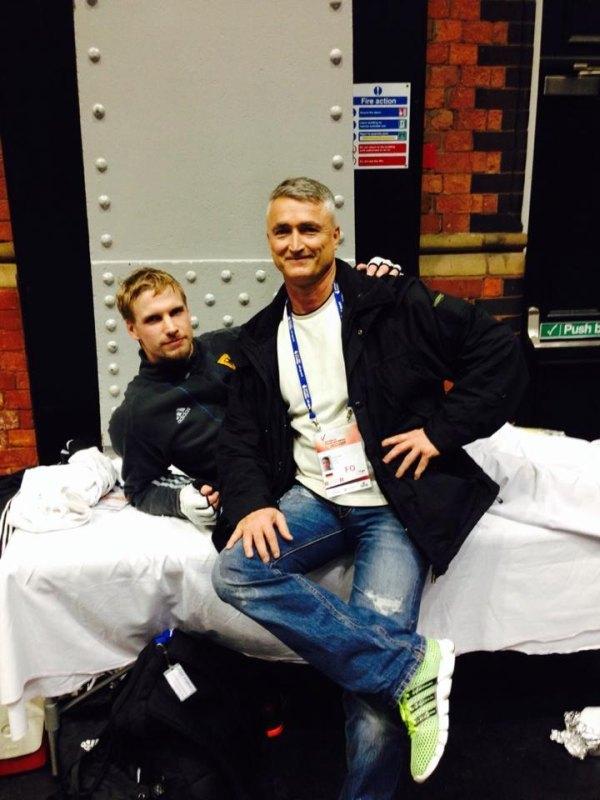WTF World Grand Prix 2013 in Manchester - Volker Wodzich mit Georg Streif