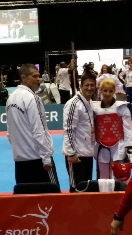 WTF World Grand Prix 2013 in Manchester - Sümeyye Manz mit Carlos Esteves