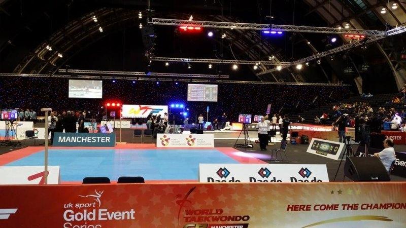 WTF World Grand Prix 2013 Manchester - Wettkampfhalle Innenraum