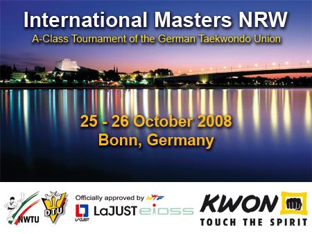 Plakat International Masters NRW 2008