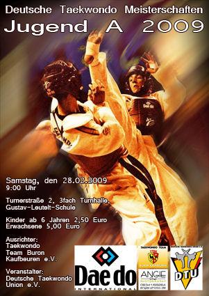 Plakat Deutsche Meisterschaft Jugend A 2009