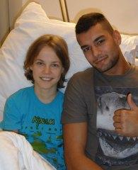 Galeriebild Besuch bei Viktoriia Marchuk im Krankenhaus