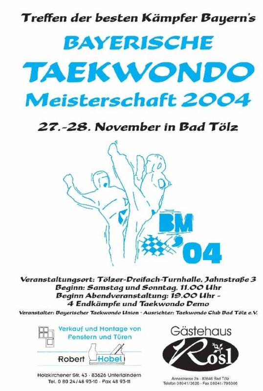 Plakat Bayerische Meisterschaft 2004