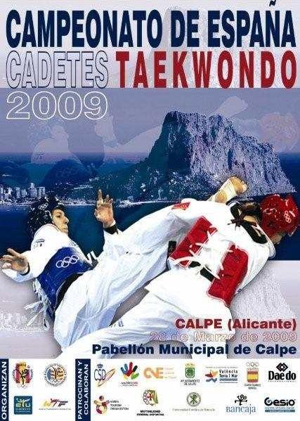 Plakat Spanische Meisterschaft Kadetten 2009