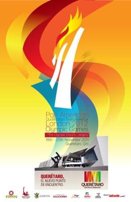 Plakat Panamerikanisches Olympia-Qualifikationsturnier 2011 einzeln
