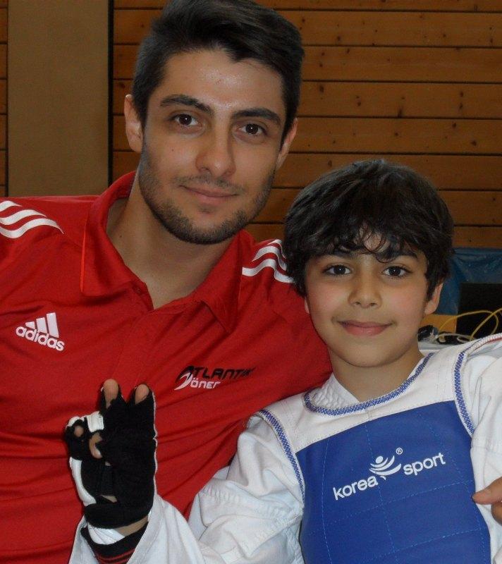 1. Bayernpokal 2014 in Roth - Burak Kayhan mit Adam Piri