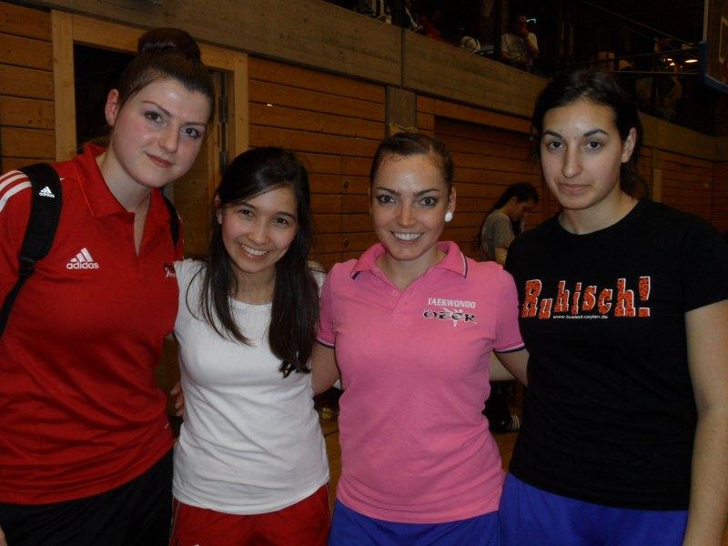 1. Bayernpokal 2014 in Roth - Katharina Weiss, Merve Demir, Vera Komrsova und Samira Danel