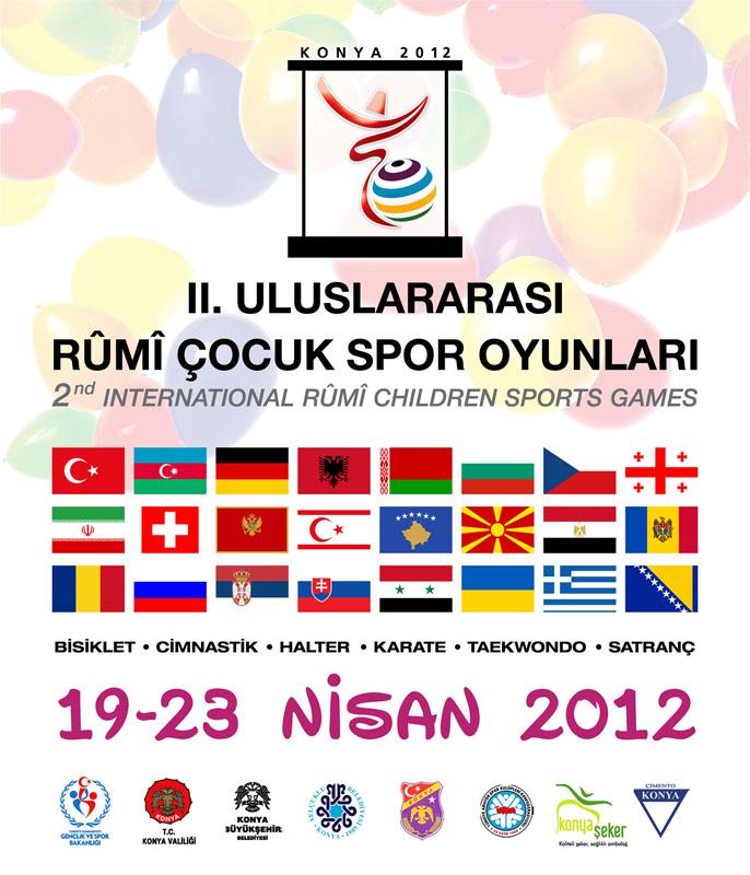 Plakat II. Uluslararasi Rumi Cocuk Spor Oyunlari 2012