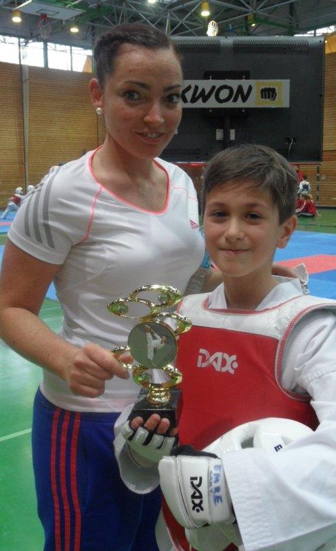 Creti Cup 2014 in Reutlingen - Emre Tepe mit Coach Vera Komrsova