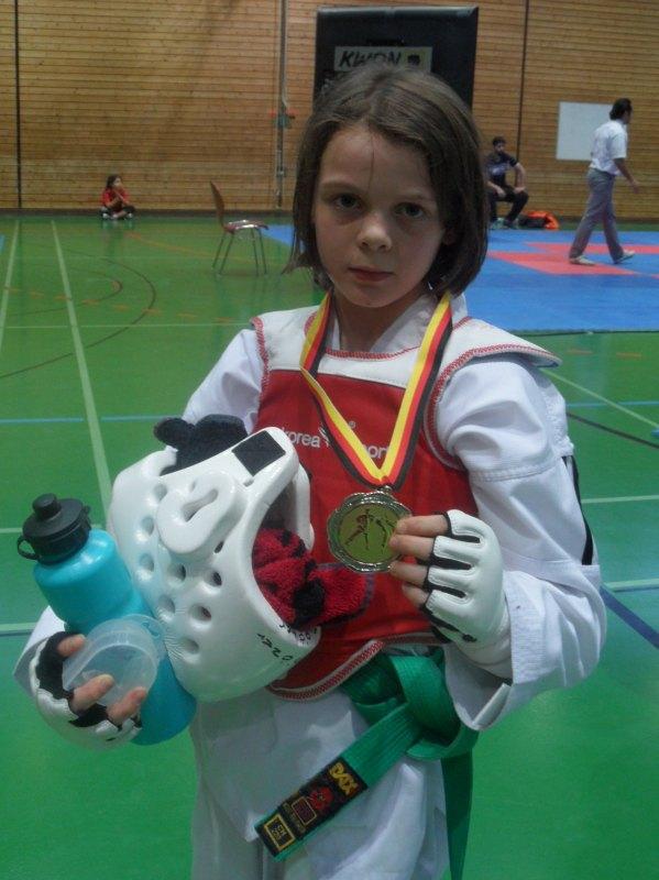 Creti Cup 2014 in Reutlingen - Roja Rezaie mit ihrer Silbermedaille