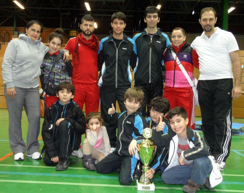 Creti Cup Reutlingen 2013 - Das Team Özer / Leopard mit dem Siegerpokal der Mannschaftswertung
