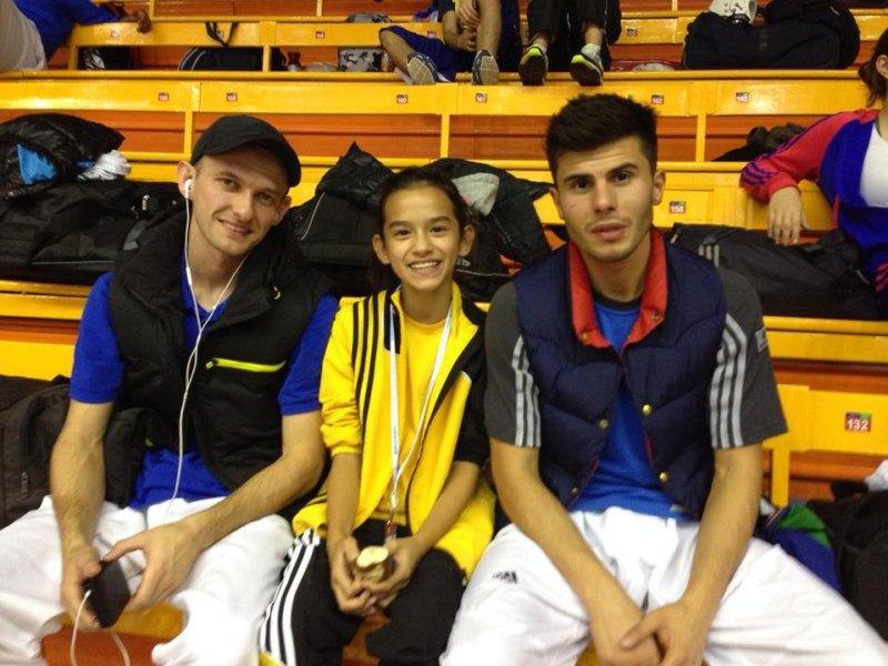 Croatia Open 2013 in Zagreb - Sergej Kolb, Shayna Guerra und Tayfun Yilmazer