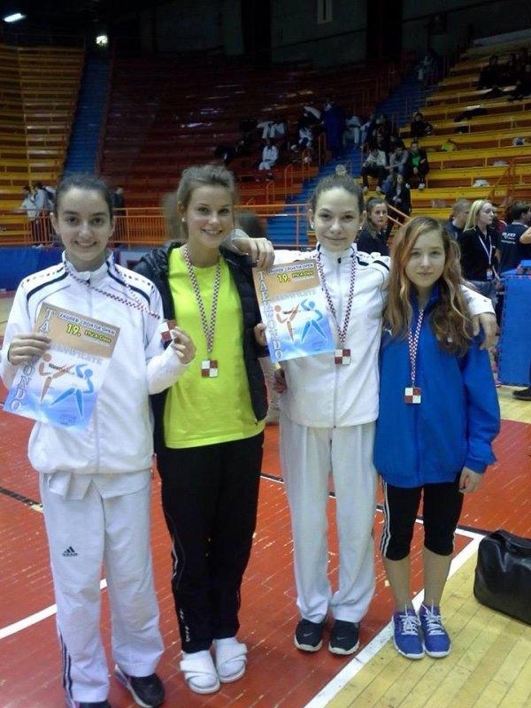 Croatia Open 2013 in Zagreb - Süheda Güler, Pia Leonhardt, Murselin Yılmaz und Lisa-Marie Rüppel
