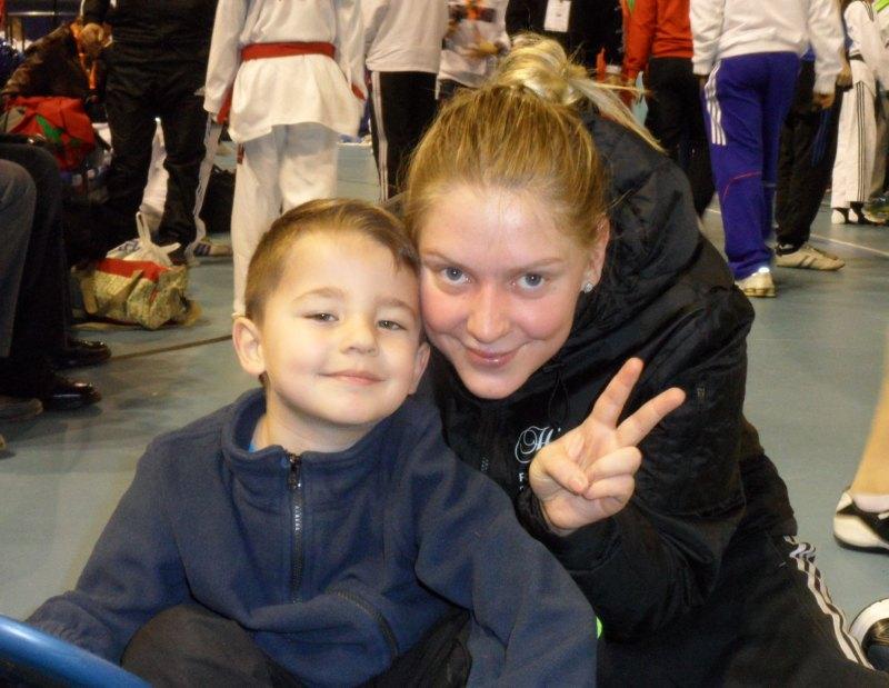 Dutch Open 2014 in Eindhoven - Anna-Lena Frömmming mit Sümeyyes Sohn Aurelio Kaan Manz