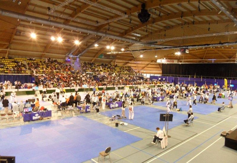 Dutch Open 2014 in Eindhoven - Der Innenraum der Wettkampfhalle