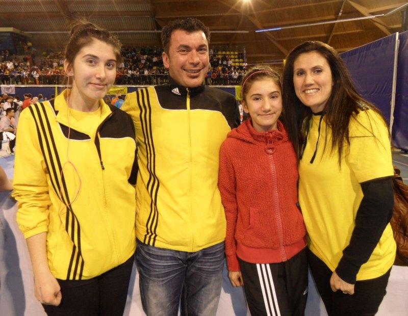 Dutch Open 2014 in Eindhoven - Aybike Türen mit ihren Eltern und ihrer Schwester
