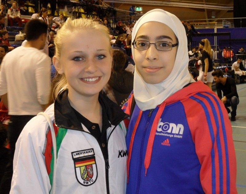 Dutch Open 2014 in Eindhoven - Charleen Cornelius und Rahaf Saqr