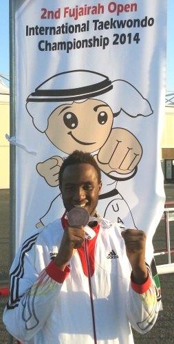 Fujairah Open 2014 Fudschaira - Yassine Trabelsi mit seiner Medaille
