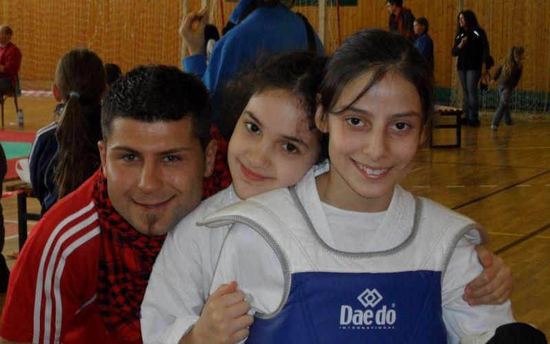 April-Kinderturnier 2011 in Humpolec - Serhad Sahan, Chamutal Castano und Beyza Kayhan beim Turnier