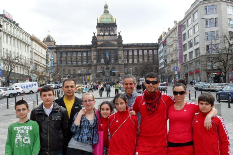 April-Kinderturnier 2011 in Humpolec - das Team bei der Besichtigung von Prag