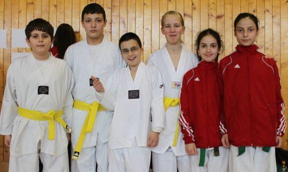 April-Kinderturnier 2011 in Humpolec - das Team am Turniertag