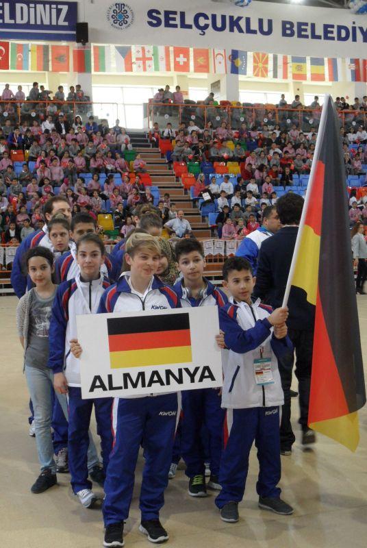 Internationales Kinderturnier Konya 2012 - Bild Eröffnungsfeier 2