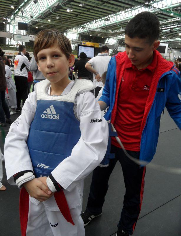 Internationales Kinderturnier Sindelfingen 2013 - Benjamin Metzger mit Mehmet Yorulmaz