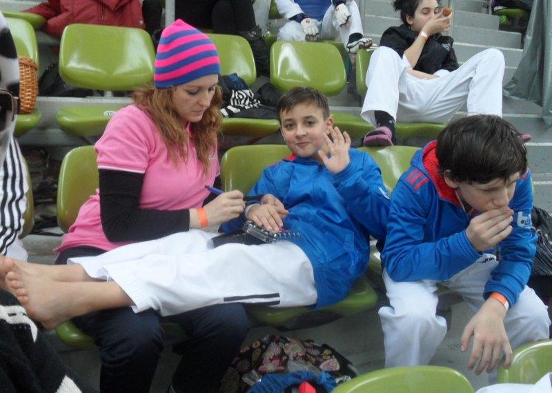 Internationales Kinderturnier Sindelfingen 2014 - Monika Idrizoglou, Dolunay Idrizoglou und Benjamin Metzger