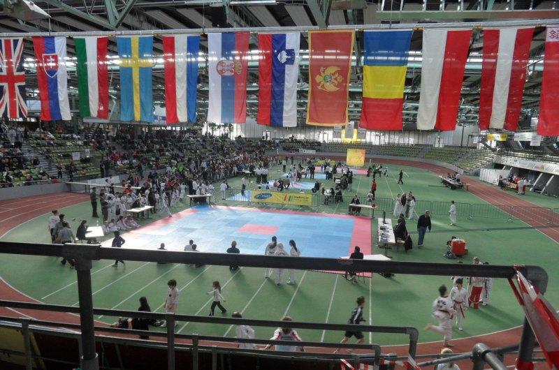 Internationales Kinderturnier Sindelfingen 2014 - Innenraum der Wettkampfhalle