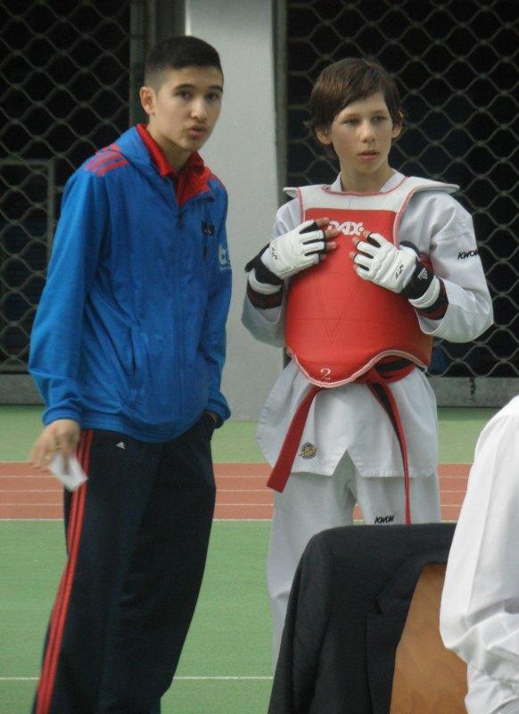 Internationales Kinderturnier Sindelfingen 2014 - Murat Demir mit Benjamin Metzger
