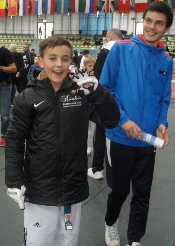 Internationales Kinderturnier Sindelfingen 2014 - Dolunay Idrizoglou und Ramin Rezaie