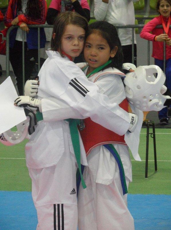 Internationales Kinderturnier Sindelfingen 2014 - Roja Rezaie mit Leyla Gül