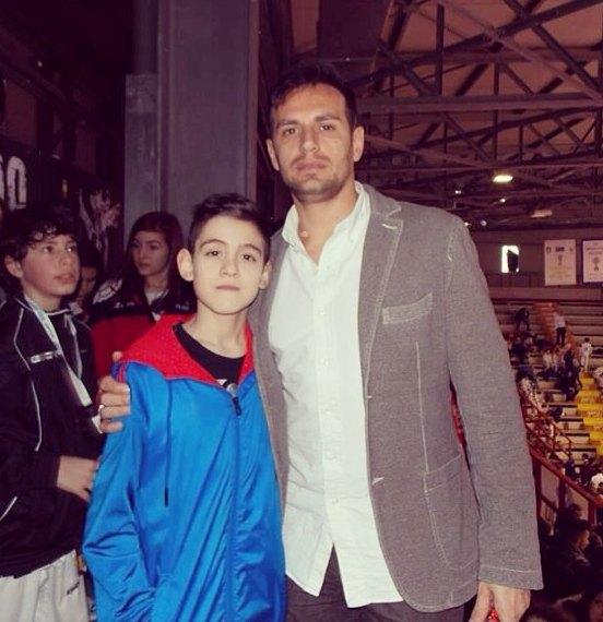 Italienische Meisterschaft der Kadetten 2014 Neapel - Jordan Caputo mit Carlo Molfetta