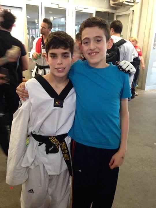 Italienische Meisterschaft der Kadetten 2014 Neapel - Jordan Caouto mit Daniel Lo Pinto