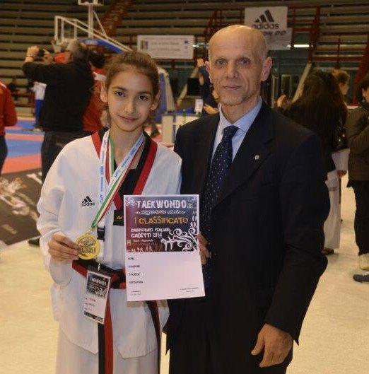Italienische Meisterschaft der Kadetten 2014 Neapel - Tatiana Miccoli mit Geremia Di Costanzo