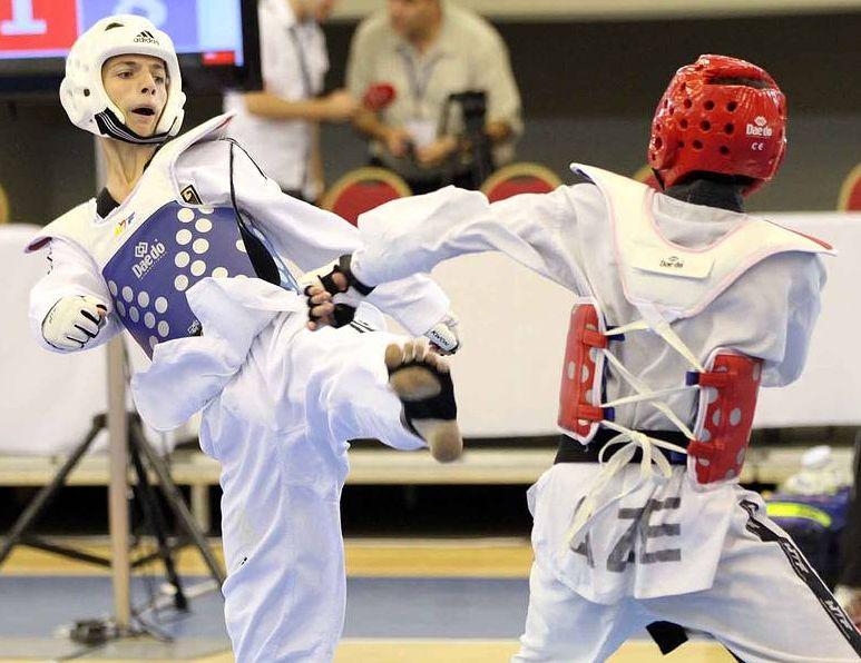 Jugend-EM 2011 - Hasan im Wettkampf